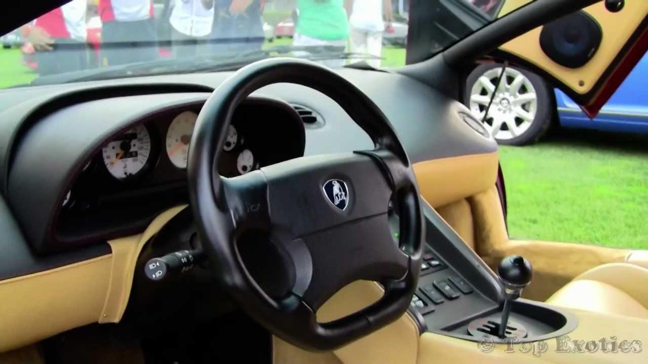 Lamborghini Diablo Sv Sound Walkaround Interior And Huge Rev