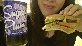 ASMR: Subway Sandwich & Sugar Plum Soda Eating Sounds