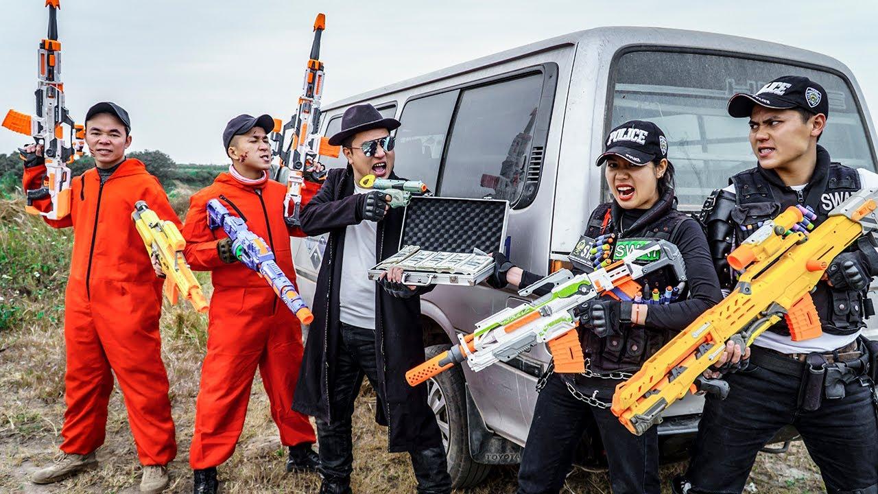 LTT Nerf War : Squad SEAL X Warriors Nerf Guns Fight Dr Ken Crazy Scupper No Notice