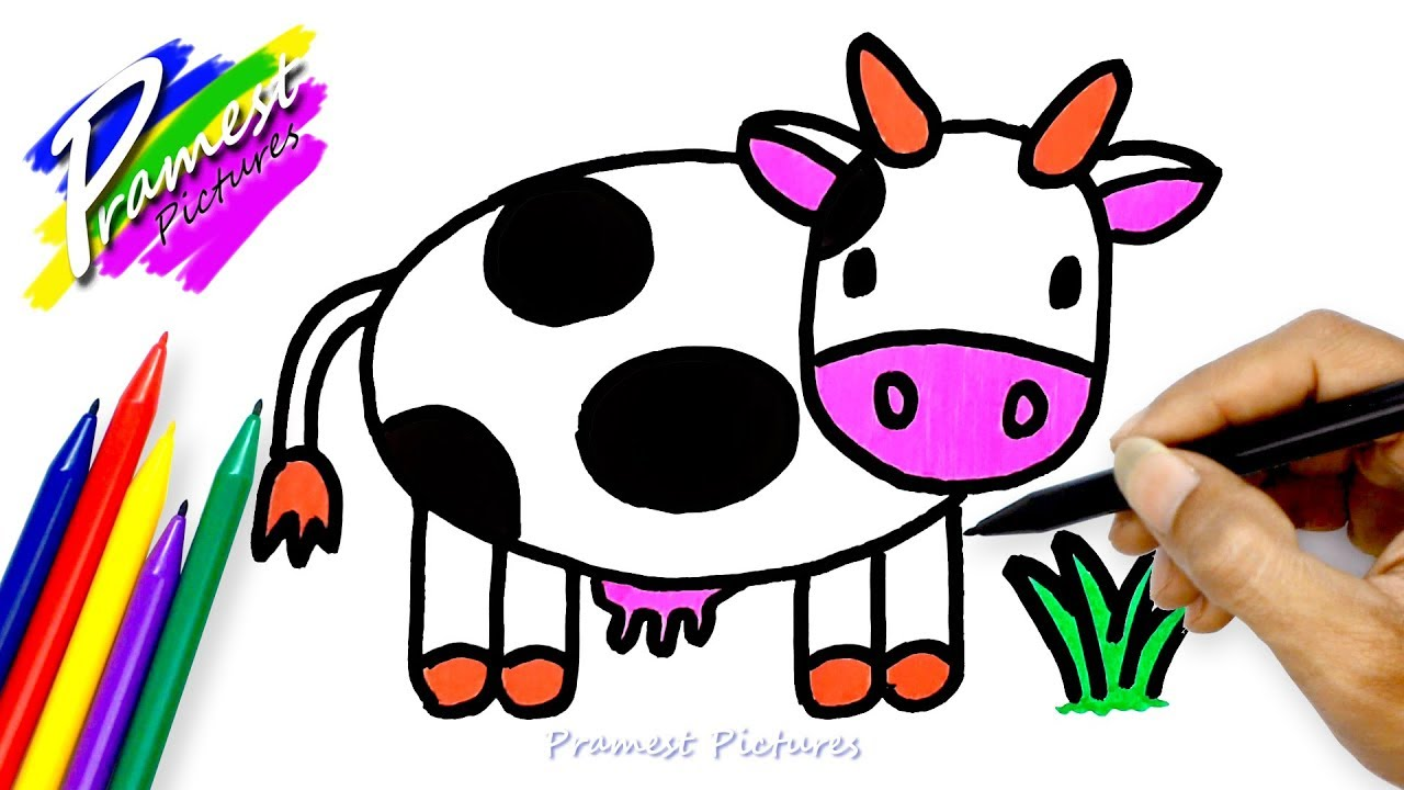 Cow ☆ Drawing And Coloring For Kids