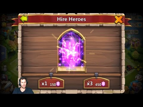 Rolling 27000 Gems Quickly For HIDING Skull Knight Castle Clash