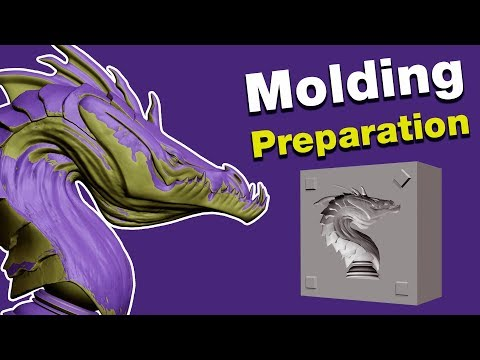 An Easy Way to Prepare 3D Models for Molding - ZBrush Tutorial