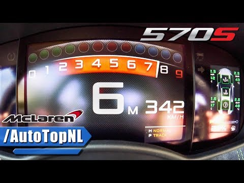 McLaren 570S 0-342km/h ACCELERATION & TOP SPEED by AutoTopNL