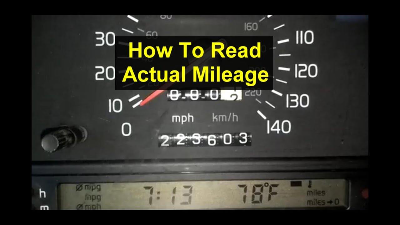 how to check read the actual mileage of a volvo 850 1993 1994 and 1995 auto care series. Black Bedroom Furniture Sets. Home Design Ideas