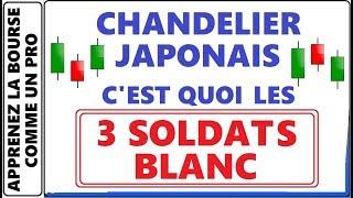 LES CHANDELIERS JAPONAIS C'EST QUOI LES 3 SOLDATS BLANC? ANALYSE TECHNIQUE A LA BOURSE