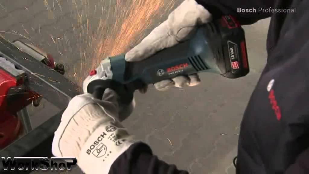 Smerigliatrice a batteria bosch professional gws 18v li for Smerigliatrice parkside