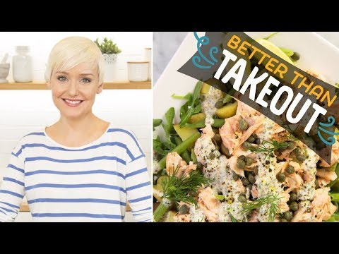 Warm Salmon And Potato Salad With Creamy Dill Dressing (with The Domestic Geek) | Food Network