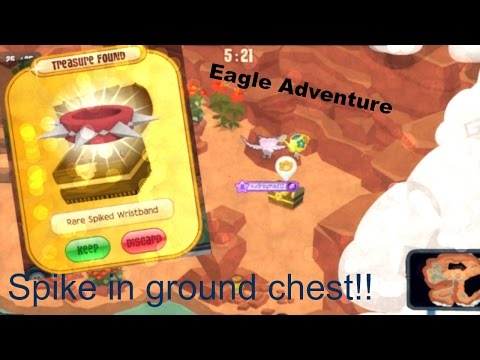 Animal Jam Eagle Adventure Project Spike: LONG SPIKE WRIST IN GROUND CHEST!!!!!!