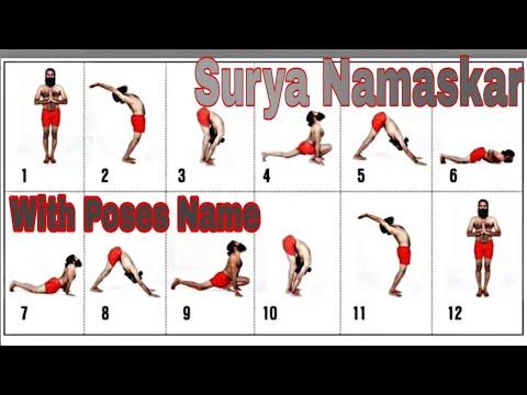 surya namaskar// 12 poses with poses name//lucknow //india