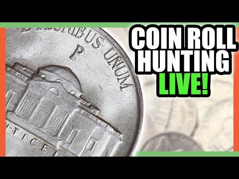 COIN ROLL HUNTING!! NICKEL ROLL HUNTING FOR RARE NICKELS!!