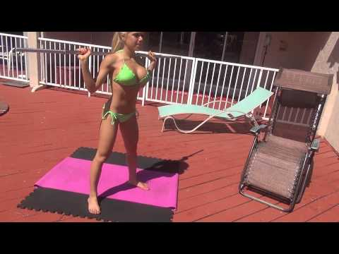 Super Sexy Model Workout - Bikini - String - Miami Beach FL
