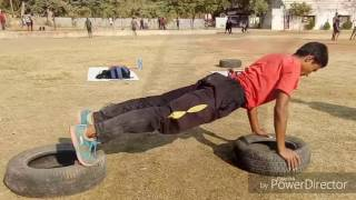 Police Bharti Long jump training.