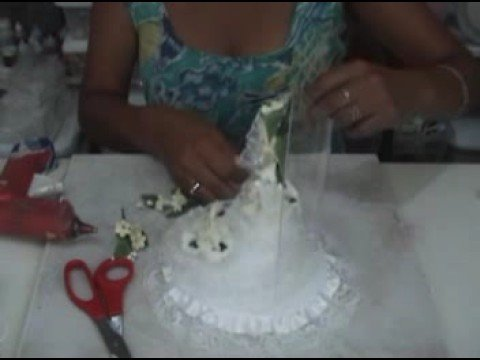 Como Decorar Una Campana De Boda.Tutorial Como Hacer Una Adorno De Torta Para Bodas How To Make A Wedding Cake Topper