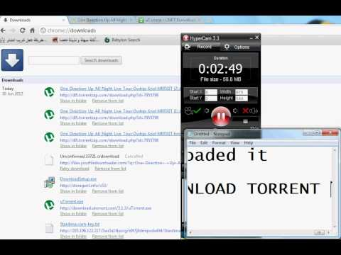 How to Download Torrent File ( Up all night live tour as Torrent)