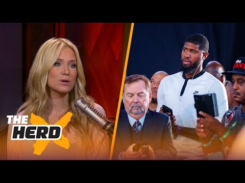 Paul George dodges questions about joining the Lakers - Kristine and Colin react | THE HERD
