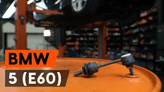 Cómo reemplazar Bieleta de barra estabilizadora BMW 1 Coupe (E82) - tutorial