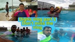 Digha volg part 2 Masti in swimming pool Hotel Seagull review Rooftop Swimming pool review