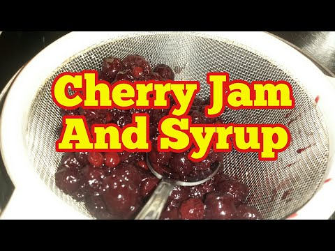 Making Cherry Jam And Syrup