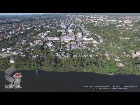 Аэросъемка города Касимов (панорама)