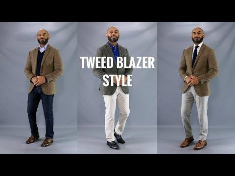 How To Style A Tweed Or Herringbone Blazer/How To Wear A Tweed Or Herringbone Sports Jacket