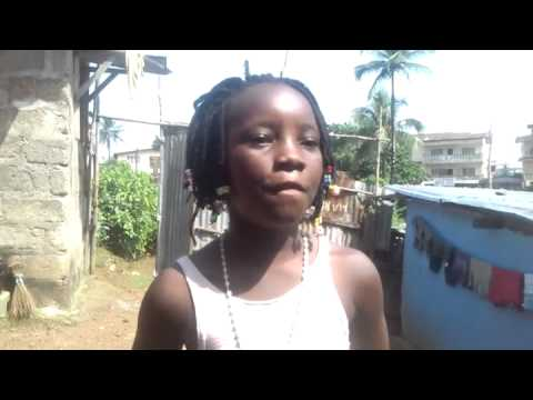 Sierra Leonean girl in Freetown  supports Street Child #kickebolaout