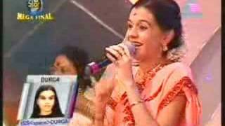 idea star singer mega final durga singing murukha