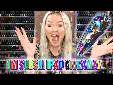 One Million Subscriber Giveaway - Glitter Cannon Nail Art Tutorial - iPad Air 2 Prize!!!