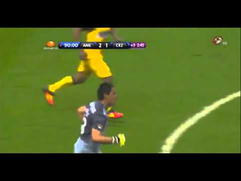 7 years ago today, Club América came back from a two goal deficit on aggregate late in the match, with this goal from goalkeeper Muñoz. They were crowned champions on penalties.