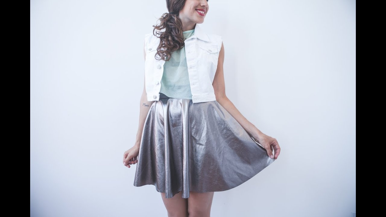 DIY Easy Metallic Circular Skirt