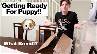 Time To Find Out What Kind of Puppy We Are Getting!!