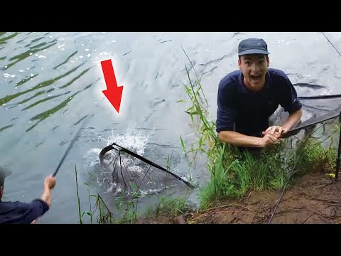 Huge Fish Broke My Net - So I Jumped In To Get It!