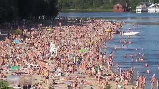 Top most attractions of beautiful beach Russia 2018 moscow beach