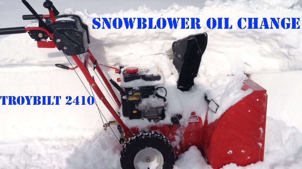 how to change the oil in a troy bilt or mtd snowblower easy  [ 1280 x 720 Pixel ]