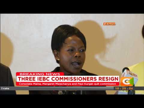 Citizen Extra:Press release from IEBC Commissioners who haveresigned