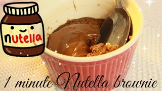 Diy: 1 Minute Nutella Brownie In A Mug