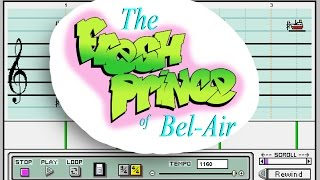 fresh prince of bel air theme song mario paint composer