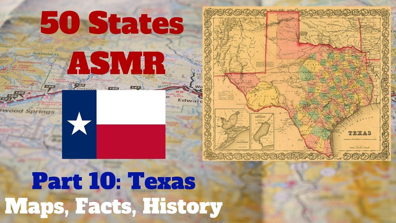 Asmr State Map Geography Part 10 Texas