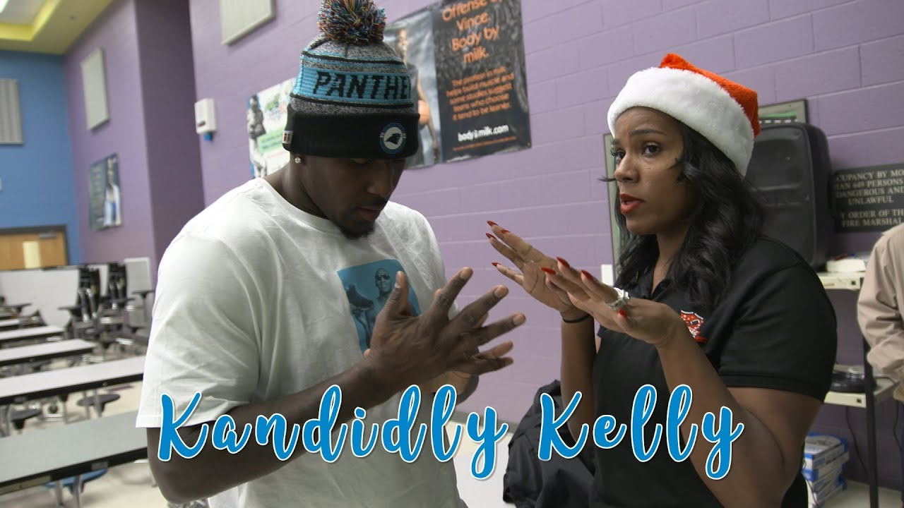 Kandidly Kelly  Davis Crew gives back (Episode 7). Carolina Panthers 1068cca5d