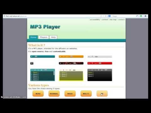Billy/Flash MP3 Music Player Tutorial