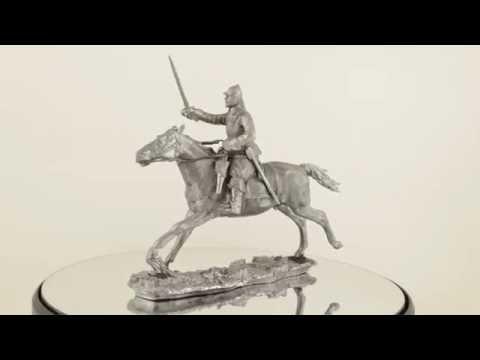 Reiter. Sweden. XVII century. Collection 54mm 1:32 metal toy soldier statue