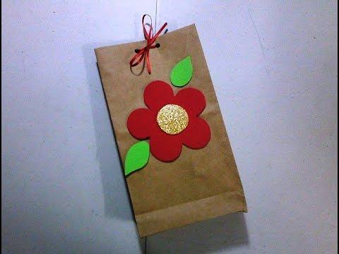 Empaque para regalo bolsa de papel decorada youtube - Bolsa de papel para regalo ...