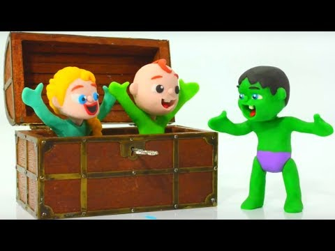 SUPERHERO BABY FINDS A MAGIC KEY ❤ Superhero Babies Play Doh Cartoons For Kids