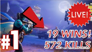 FORTNITE | (572/1000) KILLS | MOST ACTIVE PEOPLE GET SHOUTOUT/ MODERATOR