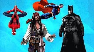 Супергерои зажигают Спайдермен, Супермен, Бэтмен и Джек Воробей Герои в масках и без танцуют!
