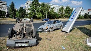 ДТП на Набережной: пьяный водитель и перевернутое авто