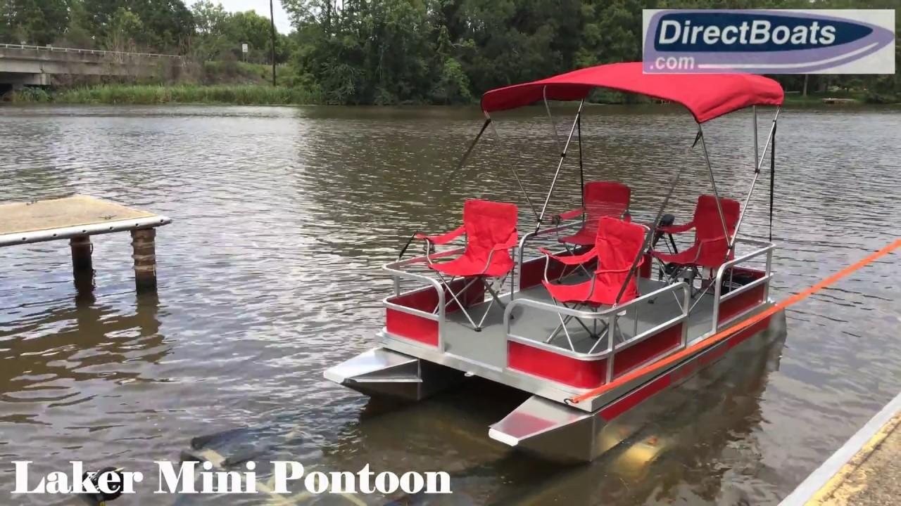 Laker Mini Pontoon Boat Youtube