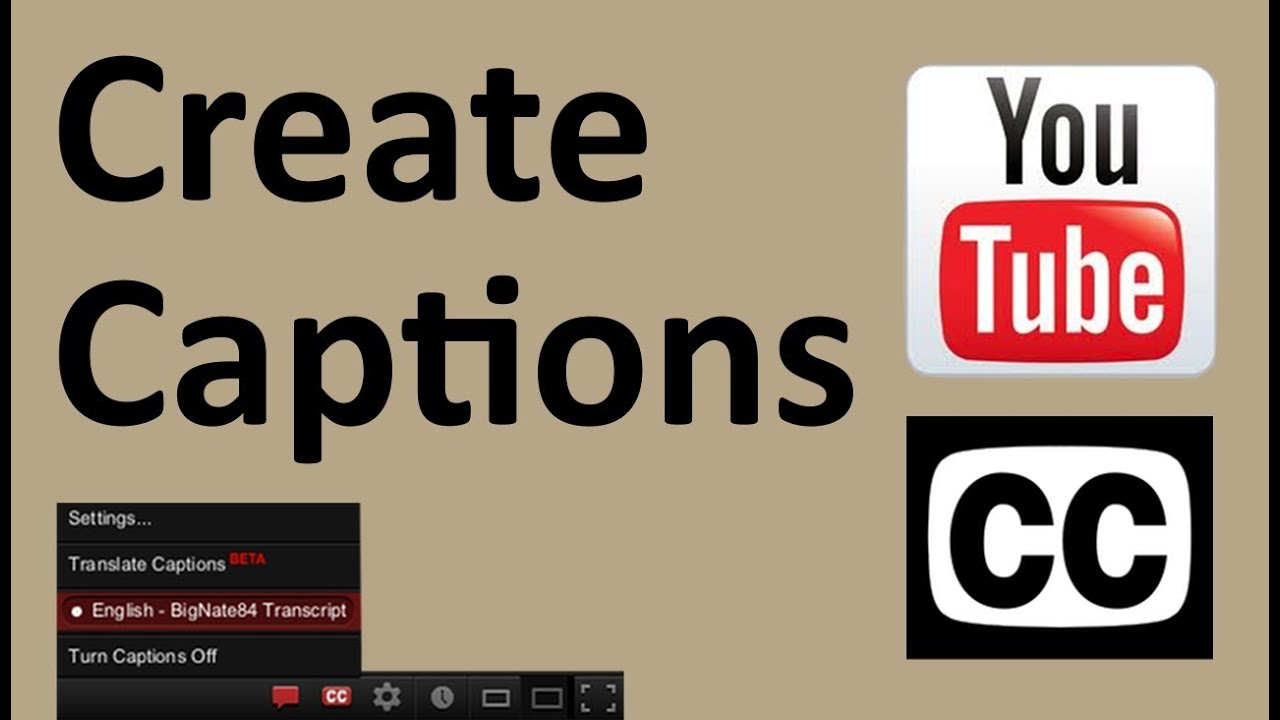 How to add closed captions to a youtube video youtube ccuart Image collections