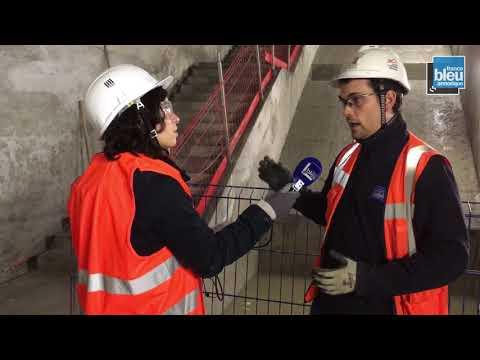 Visite du chantier de la Ligne B du métro de Rennes - Station Gares