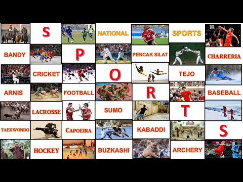 All Countries And Their National Games // National Sports