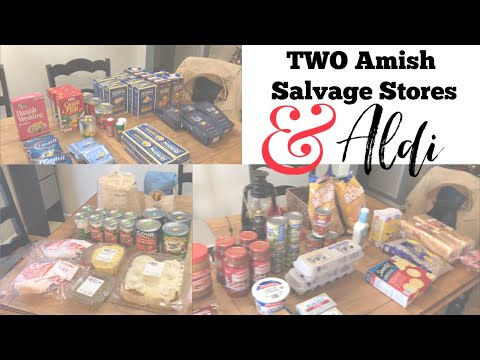 Prepper Pantry Stock Up! | TWO Amish Salvage Stores And Aldi Grocery Haul
